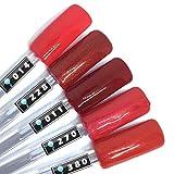 Color Gel 5er Set (je 5ml): Red fruits - Kollektion - Gel Rot, Gel Dunkelrot