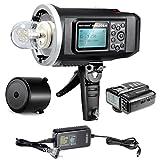 Neewer 600W GN87 HSS Flash Strobo Luce Stroboscopica per all'aperto per Fotocamere Sony con Mi Hotshoe, 2,4G Wireless Trigger & 8700mAh Batteria per 500 Flash Potenza Piena Riciclo in 0.01-2,5s Attacco Bowens (NW600BM)