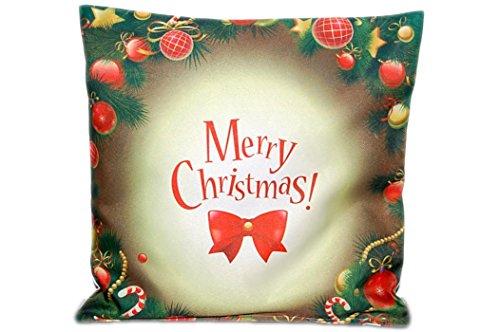 wunderschönes KISSEN 40x40 cm KissenHÜLLE WEIHNACHTEN Winter Merry Christmas Kissenbezug mit Reißverschluss