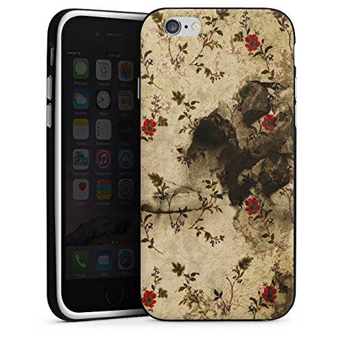 Apple iPhone 4 Housse Étui Silicone Coque Protection Vintage Rétro Collection Motif Motif Housse en silicone noir / blanc