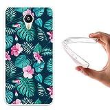 WoowCase Meizu m2 Note Hülle, Handyhülle Silikon für [ Meizu m2 Note ] Tropische Blumen 2 Handytasche Handy Cover Case Schutzhülle Flexible TPU - Transparent