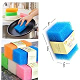#10: PERFECT SHOPO 4 Pcs Magic Sponge Melamine Cleaning Sponge Multi-functional Cleaning Foam / Cleaning Block (Plastic)