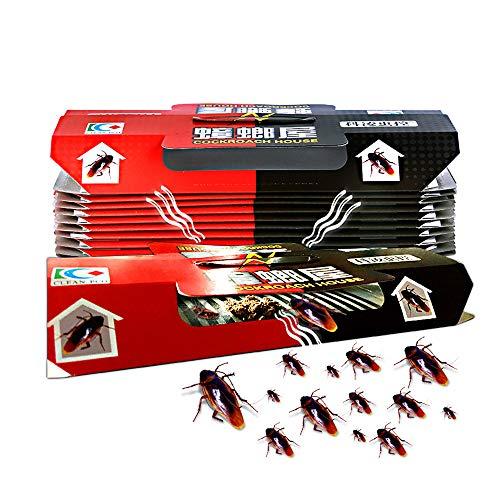 Mallalah 10 Pcs Trappes Cafard Cockroach Piège Répulsif Tueur Forte Collant Parasites Domestiques Repeller Écologique Non Toxique sans Appât