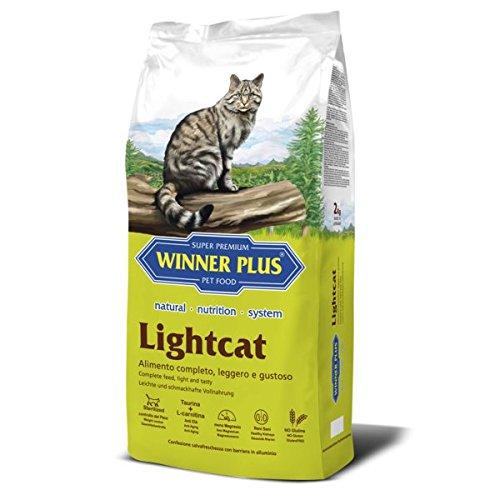 WINNER PLUS Lightcat 10 kg - Alimento naturale, completo e senza glutine con ridotto contenuto energetico per gatti adulti di tutte le razze, poco attivi, anziani o sterilizzati