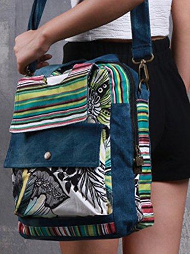 Keshi Leinwand Niedlich Damen Handtaschen, Hobo-Bags, Schultertaschen, Beutel, Beuteltaschen, Trend-Bags, Velours, Veloursleder, Wildleder, Tasche Mehrfarbig