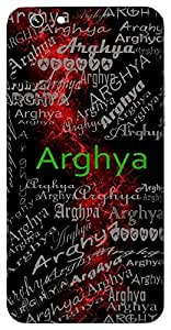 Arghya (Valuable) Name & Sign Printed All over customize & Personalized!! Protective back cover for your Smart Phone : Micromax A106 Unite 2