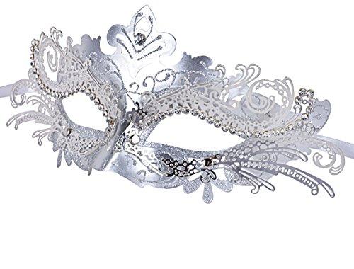 Venezianische Maske, Coofit Maskenball Masken Metall Maskerade Maske Masquerade Maske Venedig Maske Damen (Ball Masquerade Masken)