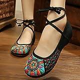 ZLL Chaussures brodées, semelle de tendon, style ethnique, femaleshoes, mode, sandales confortables