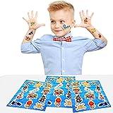 German Trendseller® - 144 x Piraten Kinder Sticker - Set┃ NEU ┃ Mix ┃ Kindergeburtstag ┃ Mitgebsel ┃ Piraten Party ┃ 12 Bögen hergestellt von German Trendseller