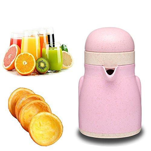 Orangensaft-hand Squeezer (welecom Citrus Lemon Lime Squeezer Hand Saftpresse manuell Saftpresse mit Sieb und Behälter Pinguin Form rose)