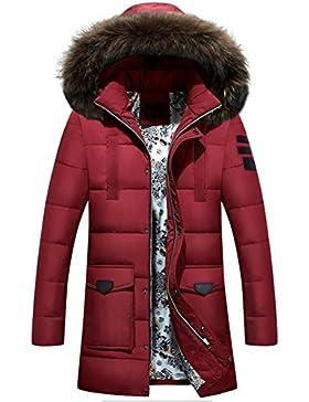 MHGAO Larga capa de los hombres espesa la chaqueta abajo , red , m