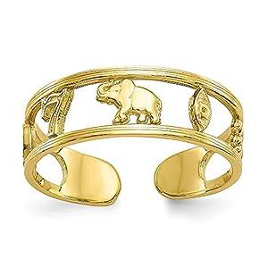 5mm 10K Luck Zehenring–Höhere Gold Goldgrad als 9Karat Gold