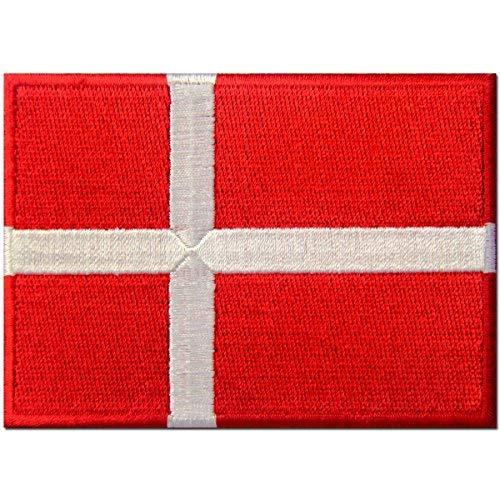Dänemark Kostüm Un - Dänemark Flagge bestickt Patch Danish Eisen auf Sew auf National Emblem