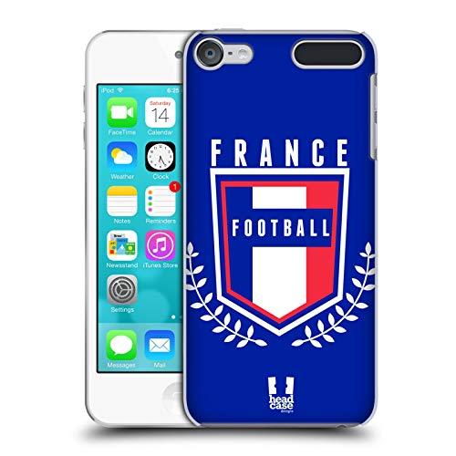 Head case designs francia calcio nella cresta cover dura per parte posteriore compatibile con touch 6th gen/touch 7th gen