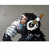 YANYANGXIN Diy Ölfarbe nach Anzahl Kit, digitale Malerei Suite, Erwachsene Anfänger mit Bürsten und Acryl Pigment, Wall Art Artwork-Color Affe, band mit Rahmen