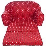 Gepetto 05.07.04.03- Sofá infantil plegable, color rojo