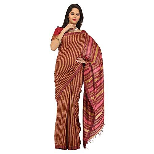 Romi's Cotton Silk Handloom Saree (Maroon)