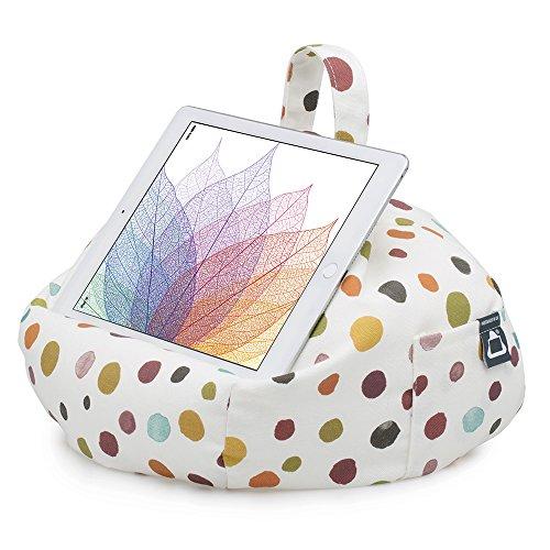 iBeani Sitzsack Kissen Halter/Ständer für ipad und Tablet–Polka Dot Whitby