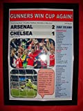 Arsenal 2 Chelsea 1 - 2017 FA Cup final - framed print