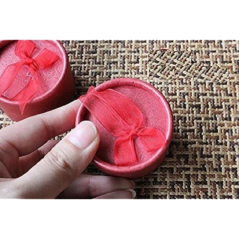 XJoel anello di visualizzazione gioielli orecchini cartone Carta Confezioni Regalo Red