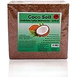 Coco Soil Kokoserde - torffreie Blumenerde aus Kokosfaser | 3kg (ergeben 50 Liter) | Quellerde für Innen- & Außenbereich | komprimierte Pflanzenerde