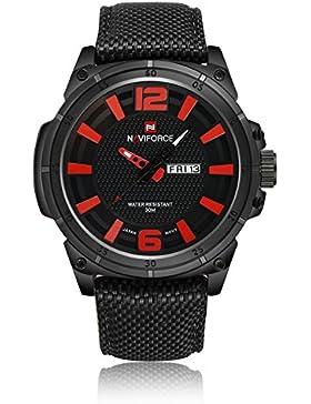 naviforce Herren Sport Uhren Herren Quarz-Stunden Datum Uhr Man Nylon Gurt Militär Armee Wasserdicht Armbanduhr...