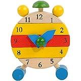 Jouets pour enfants, Kolylong Jeux éducatifs Apprendre Heure Horloge - Fabriquées à la main Jouets en bois d'horloge pour les enfants 1-3 ans