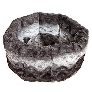Rosewood Snuggle Panier-Lit pour Chien Peluche Moelleuse Gris/Beige