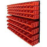 90 tlg.Wandregal Regal + Stapelboxen Gr.2&3 Box Werkstatt Lagerregal Regalsystem ( 7 teilige bis 156 teilige Sets zum Hammerpreis! )