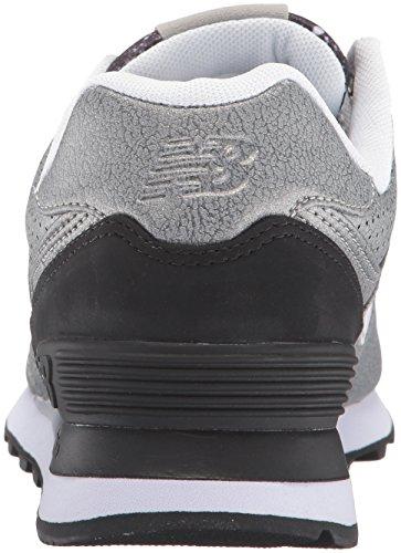 New Balance 574, Chaussures de Running Entrainement Femme Multicolore (Silver/Black 097)