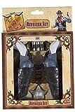 Smiffys Unisex Spielzeug Pistolen Set, 2 Pistolen mit Halfter, Sheriff Abzeichen und Patronen, One Size, Schwarz, 21182