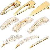 9 Stücke Künstliche Perle Haarnadeln Haarspangen Dekorative Braut Haarspangen Handmade Haarschmuck für Mädchen Damen (Stil Satz 3)