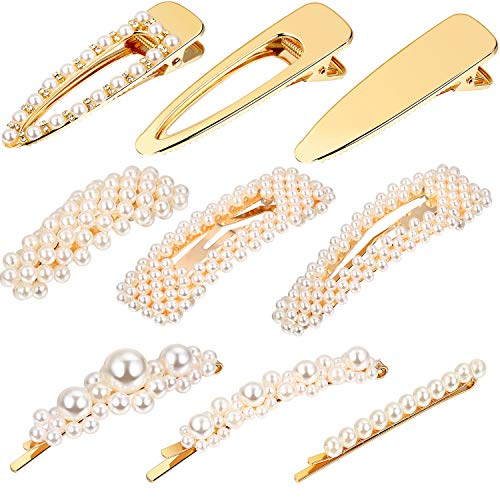 9 Pieces Artificial Pearl Hair P...