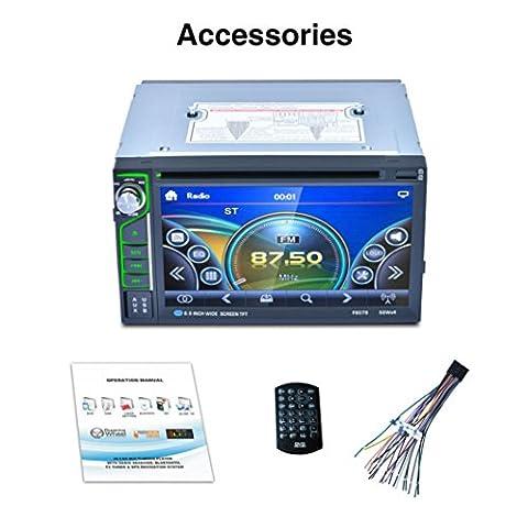 Auto Stereo Audio - Kingwo Car MP3 Player 6.5 Bluetooth Touch Auto Stereo Audio MP3 Player FM Radio USB AUX (Din-radio-install Kit)