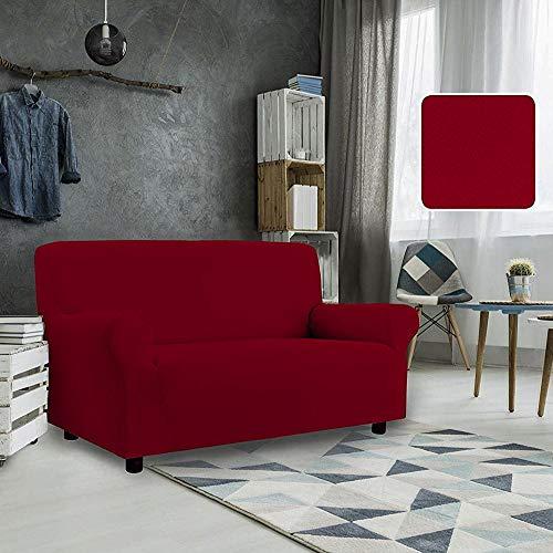 Petti, artigiani italiani - copridivano elasticizzato (3 posti, rosso), prodotto 100% made in italy disponibile per poltrone, divani a 2 posti, 3 posti e 4 posti. (rosso, 3 posti (da 170 a 210 cm))