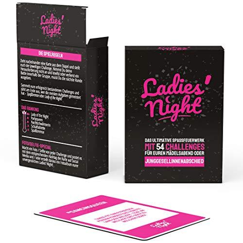 ekte Kartenspiel für Junggesellinnenabschiede und Mädelsabende - Optimal als JGA Challenge für die Braut - 54 Karten für Junggesellenabschiede für Frauen ()