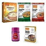 Eastern Kerala Special Combo, Palada Payasam (200g)+Sambar Masala(100g)+Rasam(100g)+Asafoetida(50g)+Garam Masala(100g) (Pack of 5)