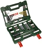 Bosch Drill and Screwdriver Bit Set with Ratchet Screwdriver and Magnetic Stick, 91 Pieces