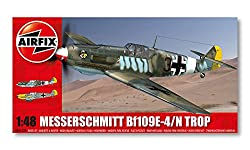 Airfix 1:48 Scale Messerschmitt Bf109E Tropical Model Kit