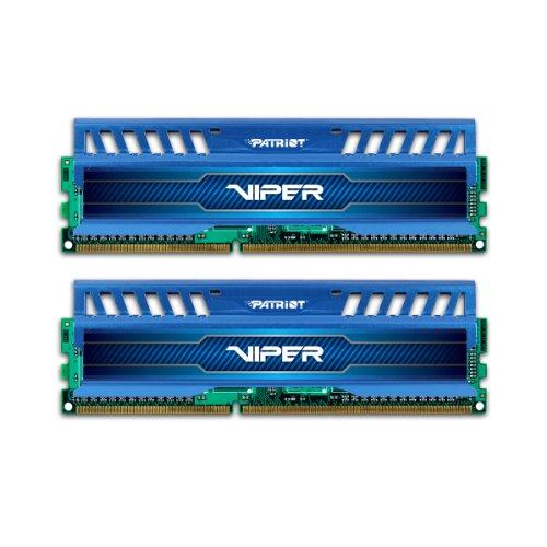 Patriot PV38G160C9KBL Viper 3 - Tarjetas de memoria (8 GB: 2 tarjetas de 4 GB, DDR3, 1600 MHz), color azul