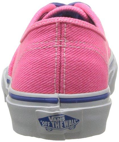 Vans T Authentic, Baskets mode mixte bébé Rose (Washed Twill P)