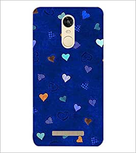 PrintDhaba Heart Pattern D-1471 Back Case Cover for XIAOMI REDMI NOTE 3 PRO (Multi-Coloured)