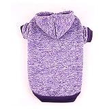 HSDDA Fiesta de Disfraces para Mascotas Suéter para Mascotas cálido en Iones de oxígeno en otoño e Invierno Ropa para Mascotas de Estilo Europeo y Americano Ropa para Mascotas (Color: Púrpura, Ta