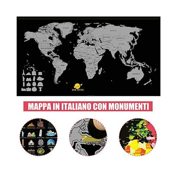 Cartina Del Mondo Da Parete.Mappa Del Mondo Da Grattare Nowposter Cartina Geografica Planisfero Da Parete Con Europa Italia Scratch Map Art Mappamondo Politico Per Diario Di