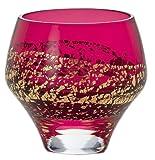 Japanese Edo-Kiriko (Cut Glass) Sake Cup 3fl oz (90ml) Crimson Glass by KIMOTO GLASSWARE