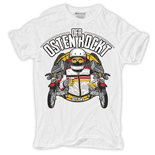 Männer und Herren T-Shirt Der Osten rockt Weiß