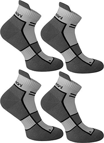 4 Paar Running Sport Sneaker Funktionssocken mit Frotteesohle verstärkt Farbe Excalibur Größe 43/46