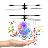 [New Vision]Music Flying Ball,Children Flying Toys, RC Drone Helicopter Ball Built-in Shinning LED Lighting with music for Kids, Teenagers - RC Toy for Children-Venas