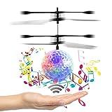 [New Vision] Musik Fliegen-Kugel, Kinder Fliegen Spielzeug, RC Drone Hubschrauber Kugel Built-in leuchtenden LED-Beleuchtung mit Musik für Kinder, Jugendliche - RC Spielzeug für Kinder-Venas