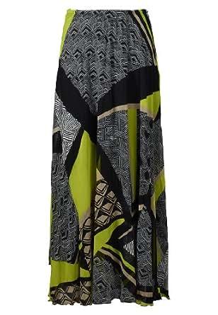 APART Fashion - Chiffon skirt - black-multicoloured - Size 20